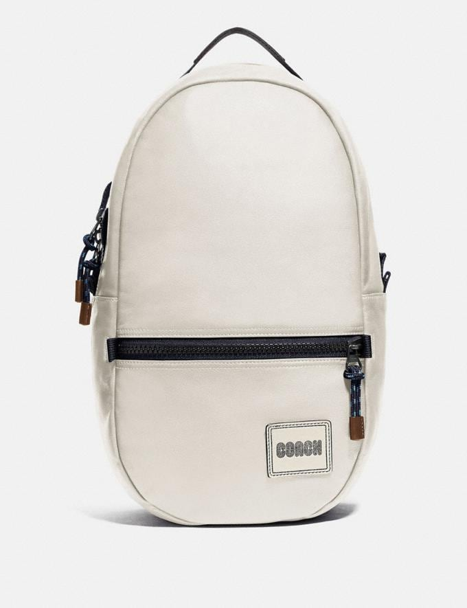 Coach Pacer Backpack With Coach Patch Black Copper/Chalk Men Edits Travel