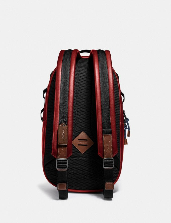 Coach Pacer Backpack With Coach Patch Black Copper/Cardinal Men Bags Backpacks Alternate View 2