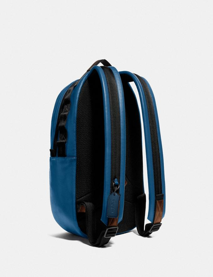 Coach Pacer Backpack With Coach Patch Black Copper/Pacific New Men's New Arrivals Bags Alternate View 1