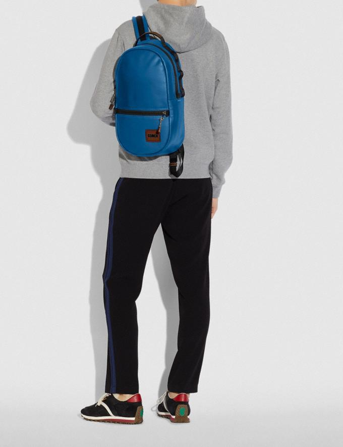 Coach Pacer Backpack With Coach Patch Black Copper/Pacific New Men's New Arrivals Bags Alternate View 3