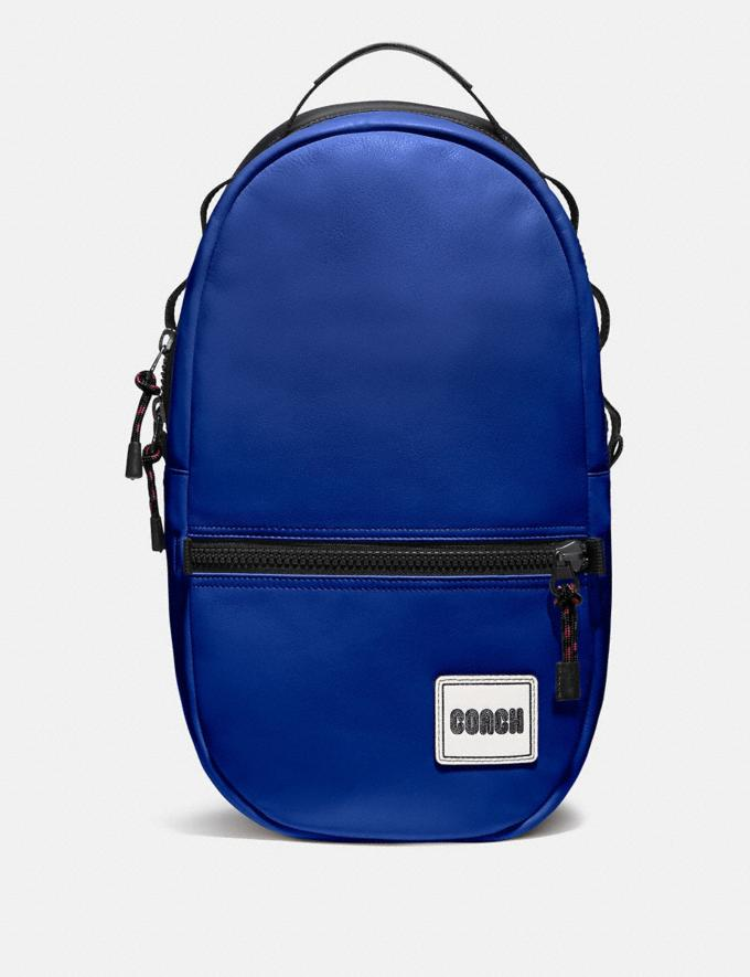 Coach Pacer Backpack With Coach Patch Black Copper/Sport Blue Men Bags Backpacks