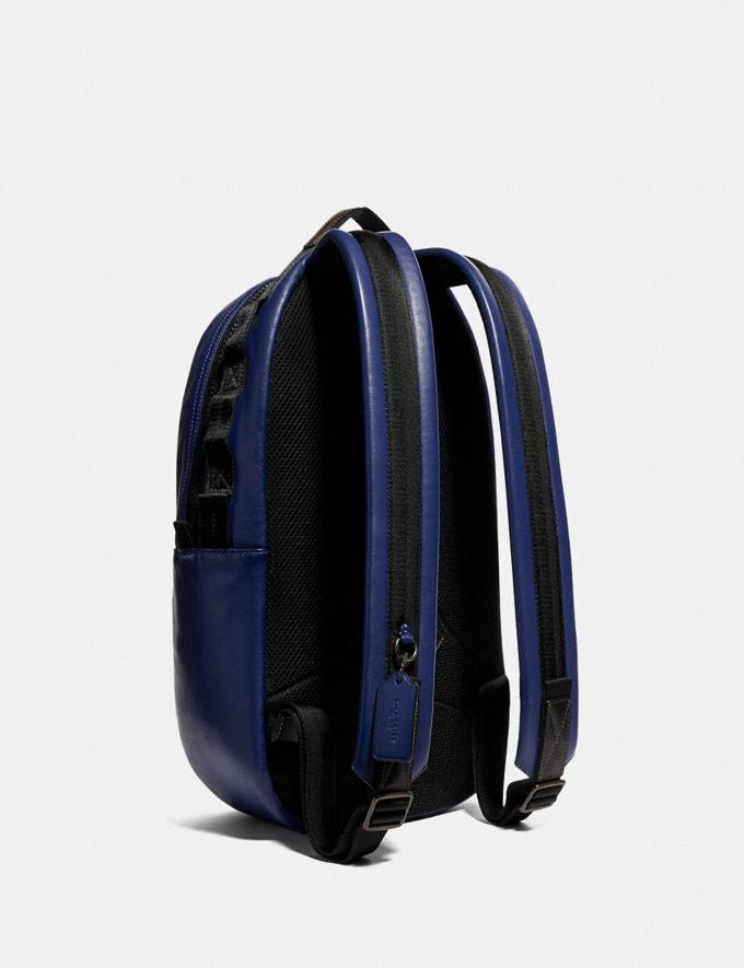 Coach Pacer Backpack With Coach Patch Black Copper/Sport Blue Men Edits Travel Alternate View 1