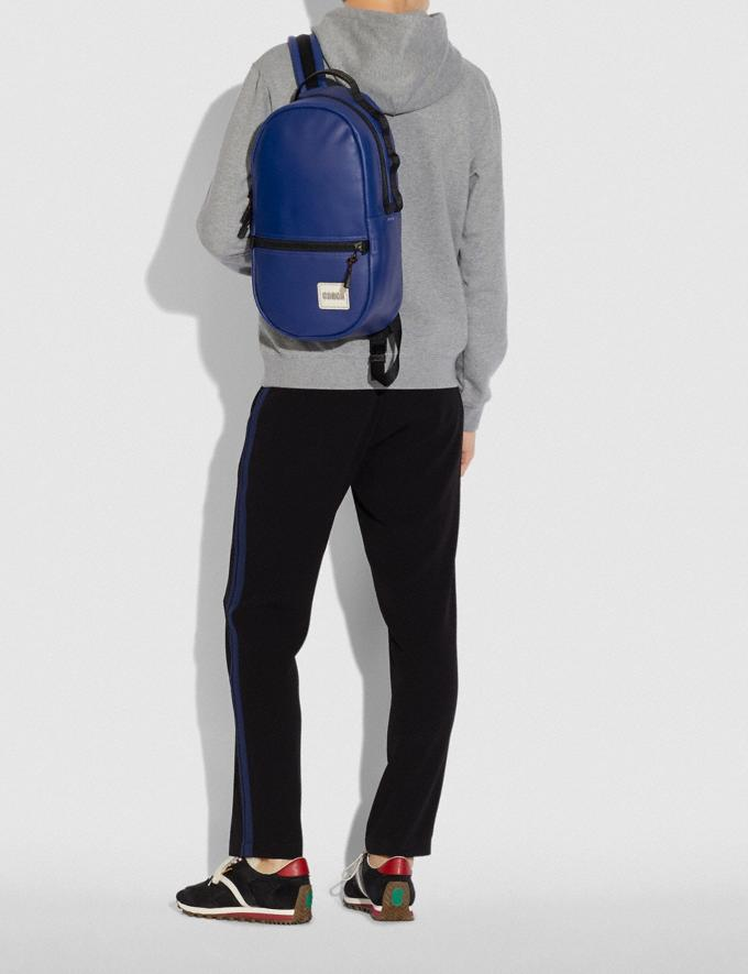 Coach Pacer Backpack With Coach Patch Black Copper/Sport Blue Men Edits Travel Alternate View 2