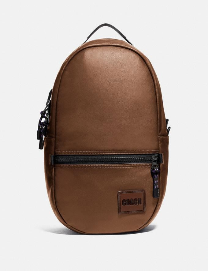 Coach Pacer Backpack With Coach Patch Black Copper/Saddle Gifts For Him Under $500