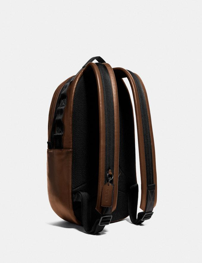 Coach Pacer Backpack With Coach Patch Black Copper/Saddle Gift For Him Bestsellers Alternate View 1
