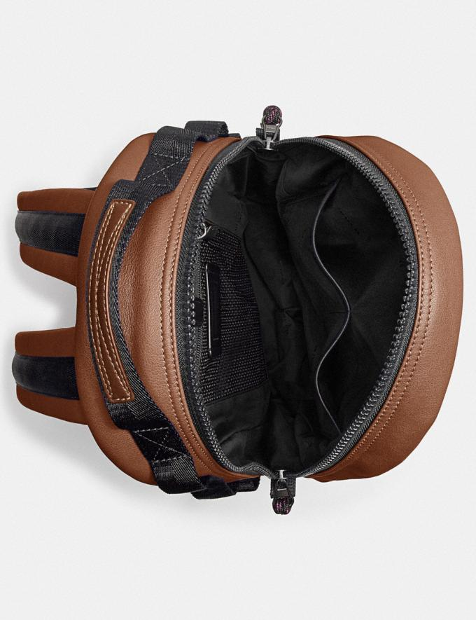Coach Pacer Backpack With Coach Patch Black Copper/Saddle Gifts For Him Under $500 Alternate View 2