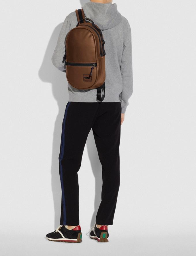 Coach Pacer Backpack With Coach Patch Black Copper/Saddle Gift For Him Bestsellers Alternate View 3