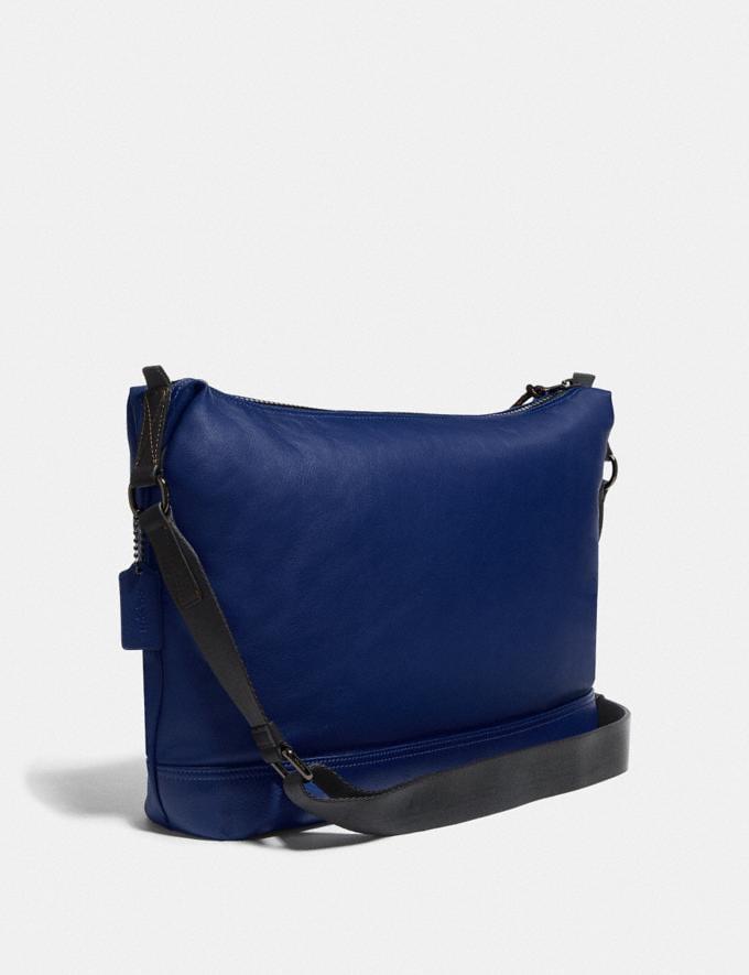 Coach Pacer Messenger Black Copper/Sport Blue New Men's New Arrivals Bags Alternate View 1