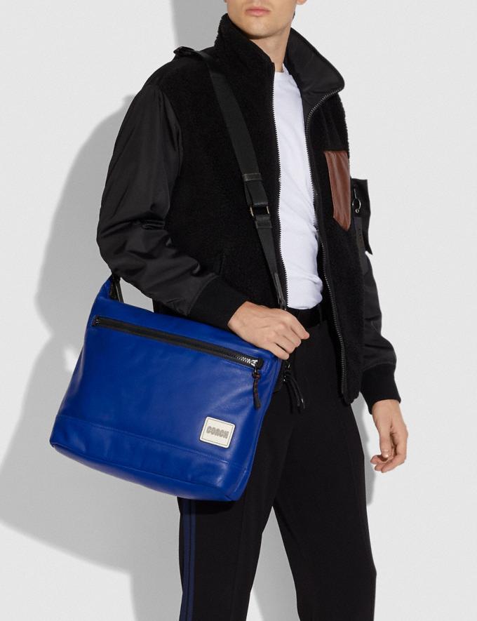 Coach Pacer Messenger Black Copper/Sport Blue New Men's New Arrivals Bags Alternate View 3