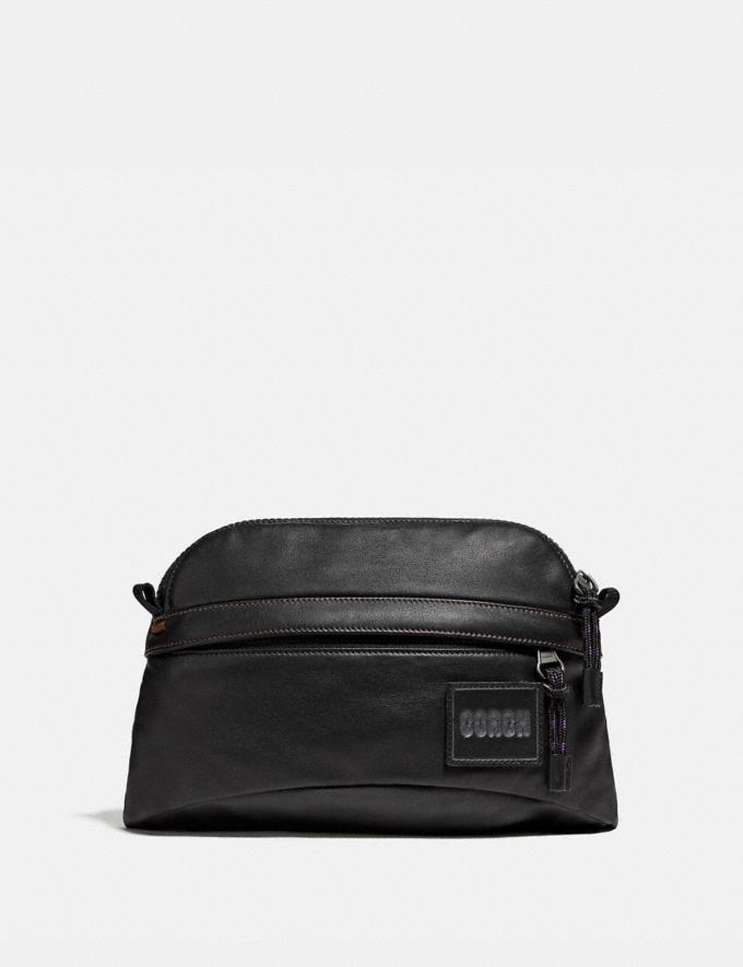 Coach Pacer Sport Pack With Coach Patch Black Copper/Black Men Bags Messenger & Crossbody