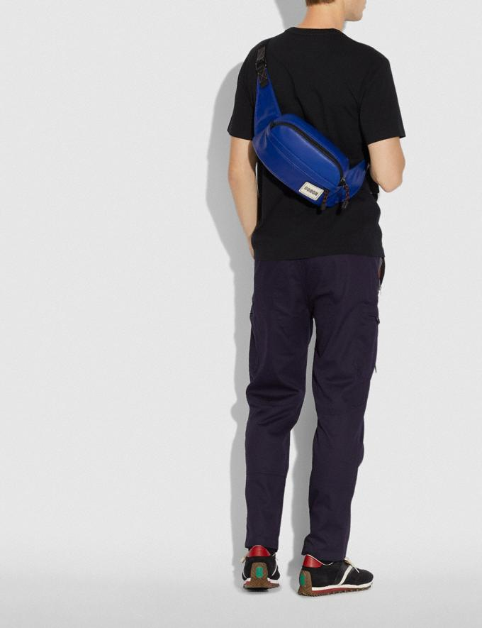 Coach Pacer Sport Pack With Coach Patch Black Copper/Sport Blue New Men's New Arrivals Bags Alternate View 3