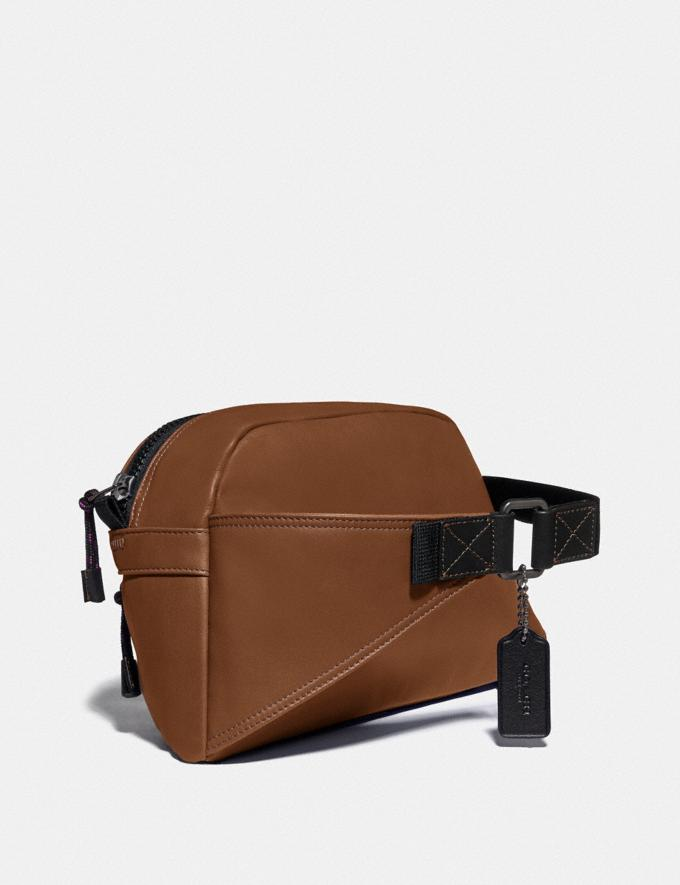 Coach Pacer Sport Pack With Coach Patch Black Copper/Saddle Men Bags Messenger & Crossbody Alternate View 1