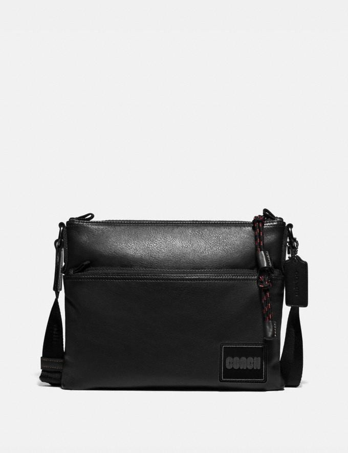 Coach Pacer Crossbody With Coach Patch Black Copper/Black Men Bags Messenger & Crossbody