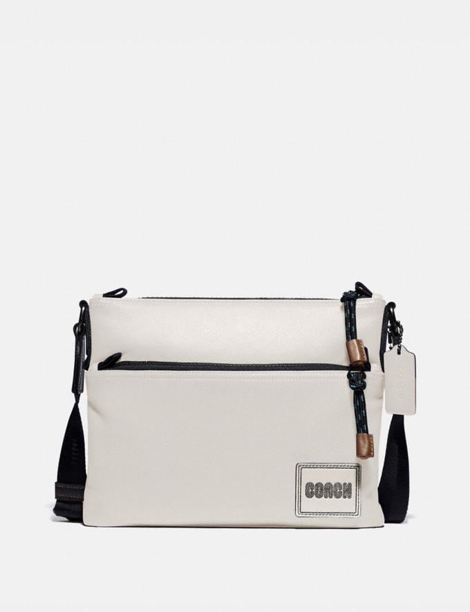 Coach Pacer Crossbody With Coach Patch Black Copper/Chalk New Men's New Arrivals Bags