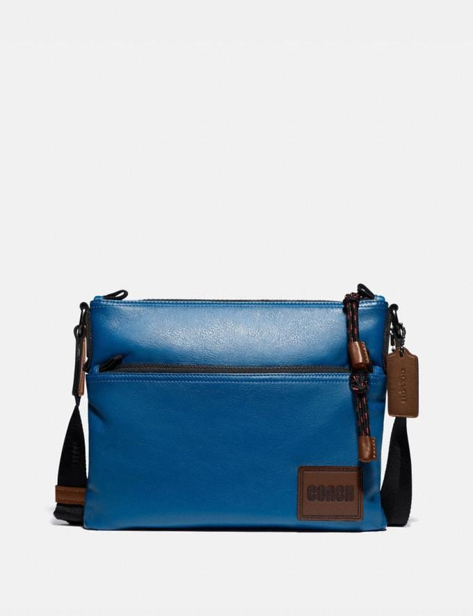 Coach Pacer Crossbody With Coach Patch Black Copper/Pacific Men Edits Work