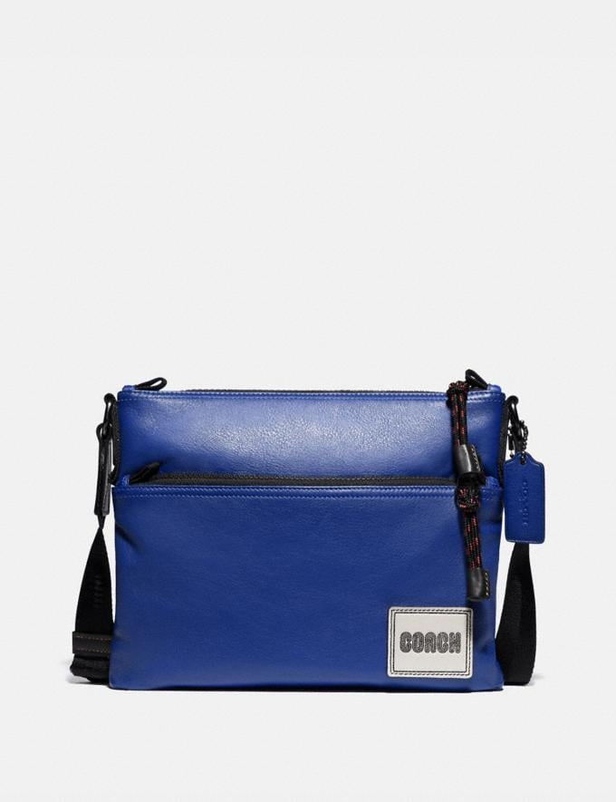Coach Pacer Crossbody With Coach Patch Black Copper/Sport Blue New Men's New Arrivals Bags