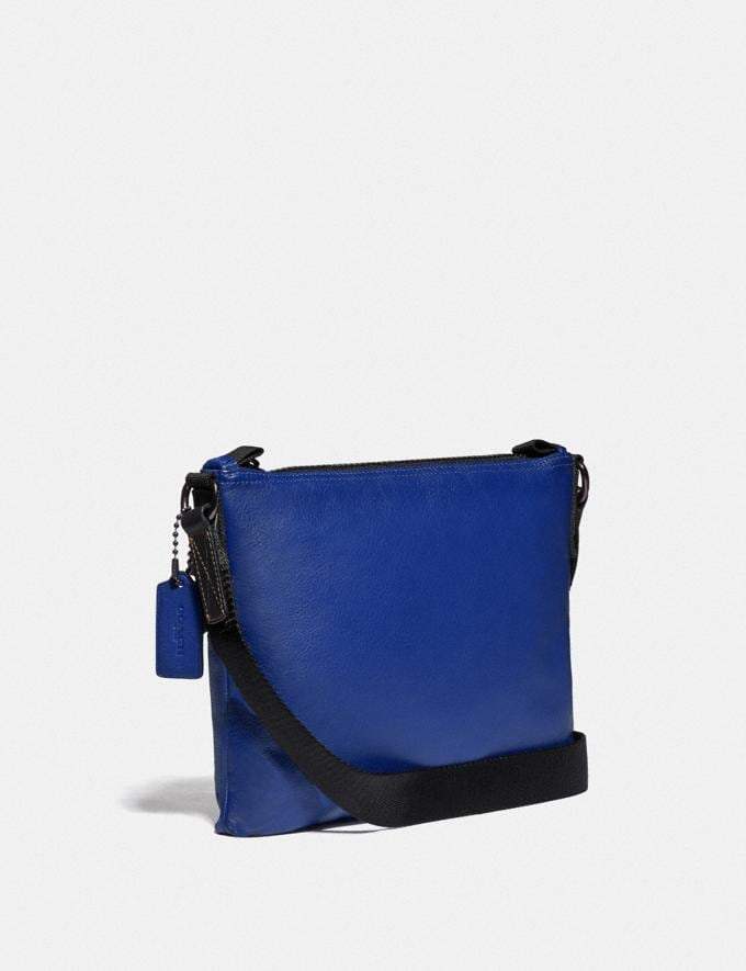Coach Pacer Crossbody With Coach Patch Black Copper/Sport Blue New Men's New Arrivals Bags Alternate View 1