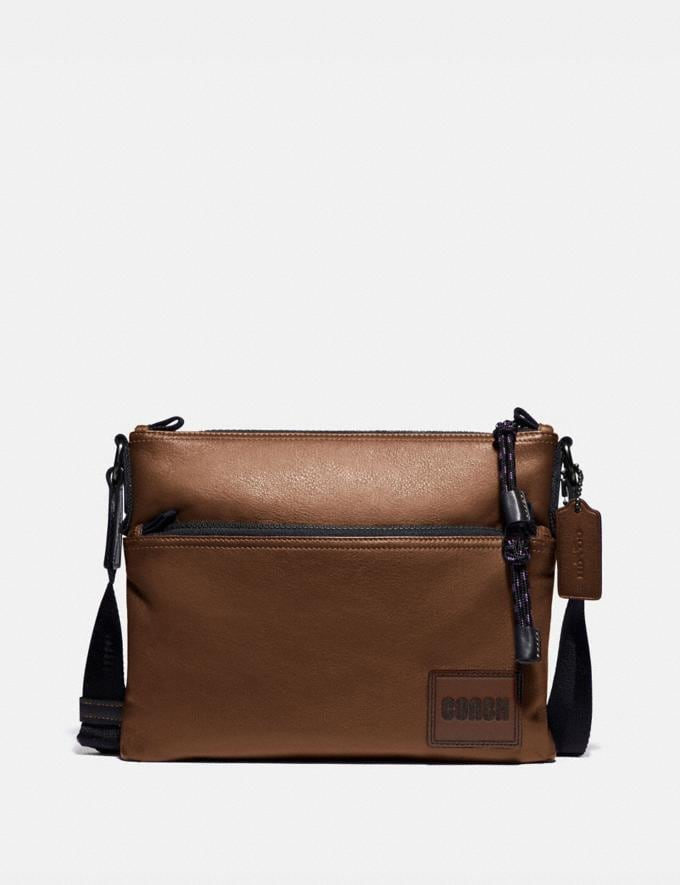 Coach Pacer Crossbody With Coach Patch Black Copper/Saddle SALE 30% off Select Full-Price Styles Men's