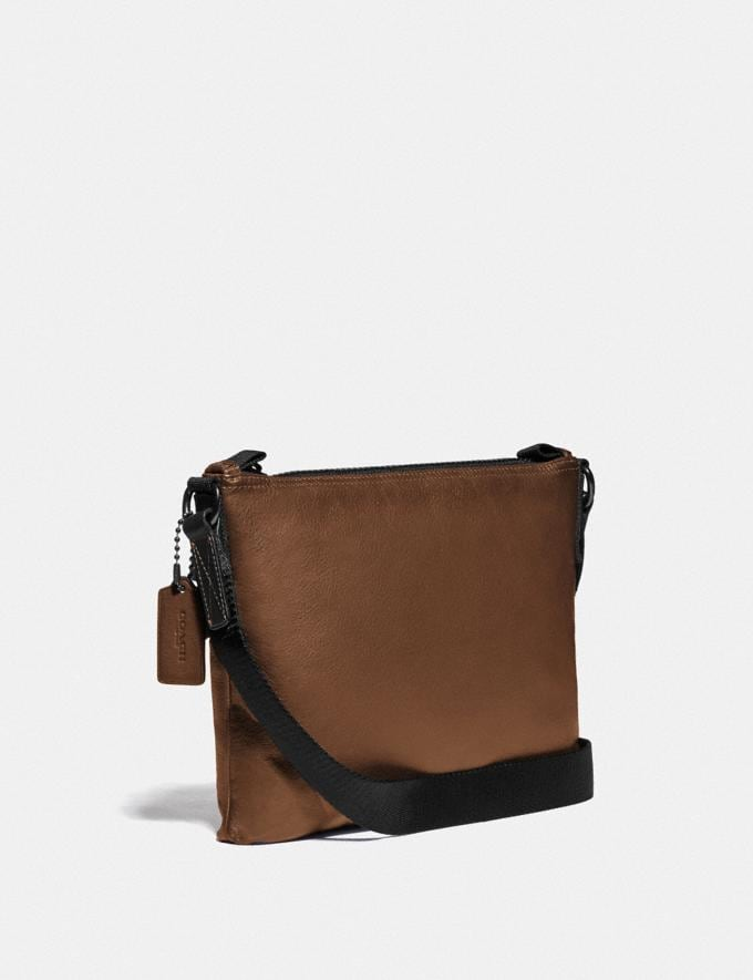 Coach Pacer Crossbody With Coach Patch Black Copper/Saddle Cyber Monday Men's Cyber Monday Sale Bags Alternate View 1
