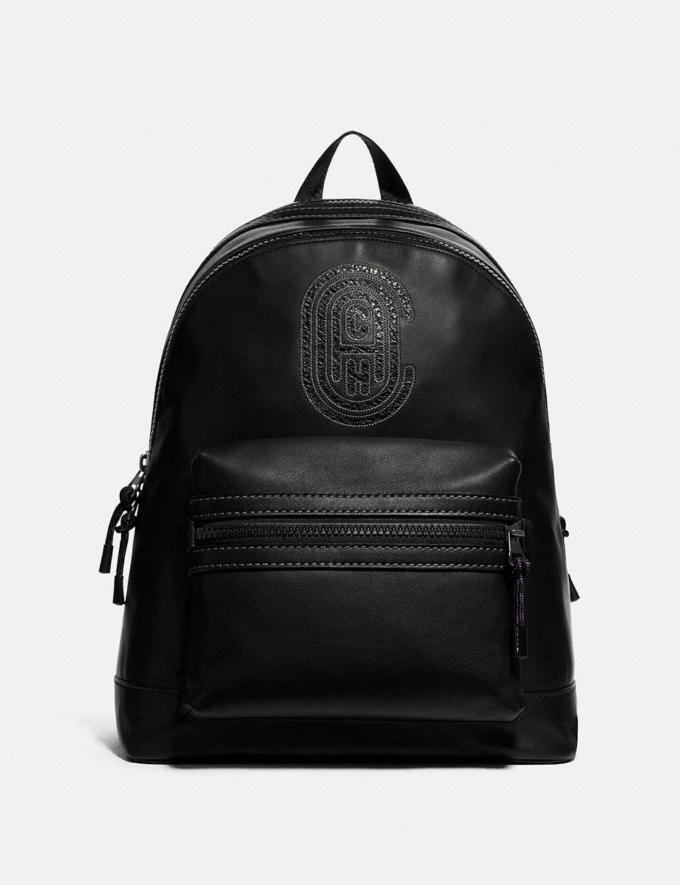 Coach Academy Backpack With Coach Patch Black Copper/Black Men Bags Backpacks