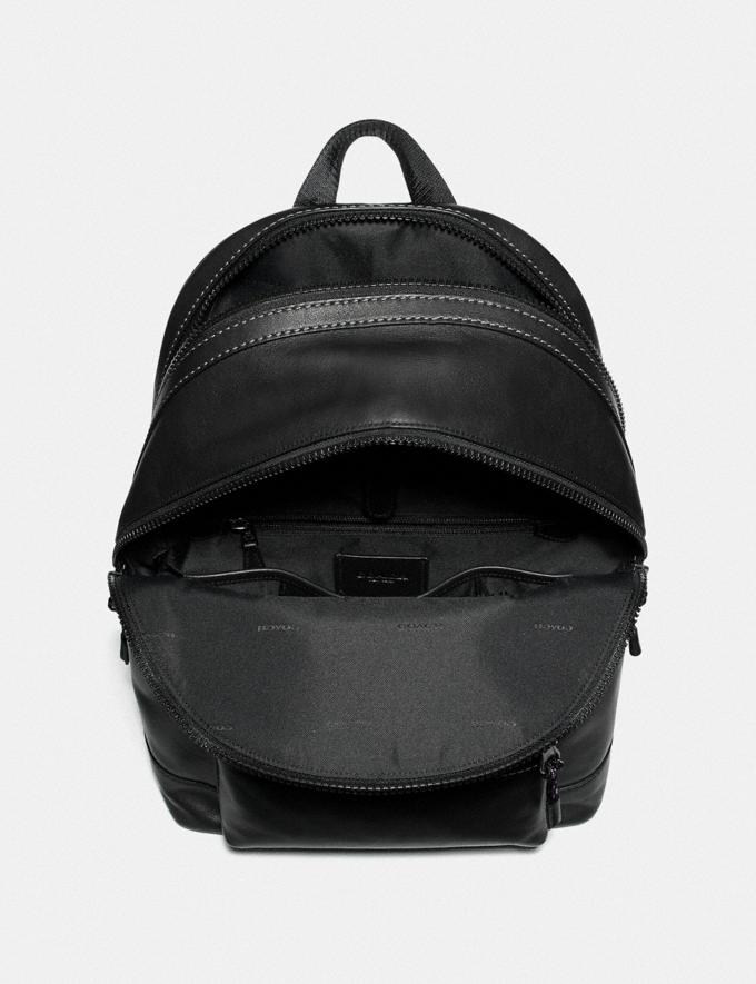 Coach Academy Backpack With Coach Patch Black Copper/Black Men Bags Backpacks Alternate View 2