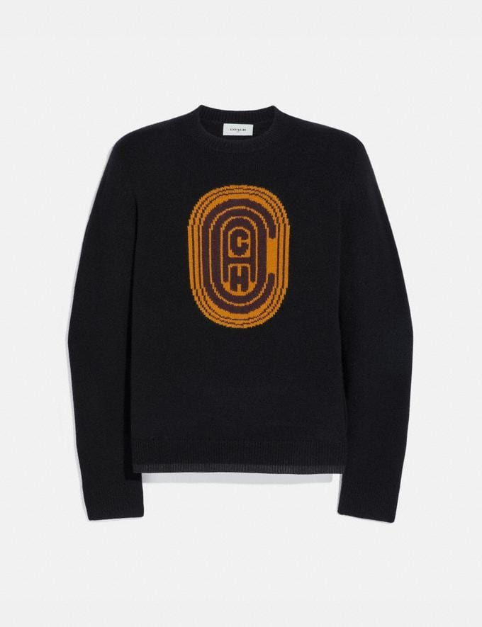Coach Coach Intarsia Sweater Black