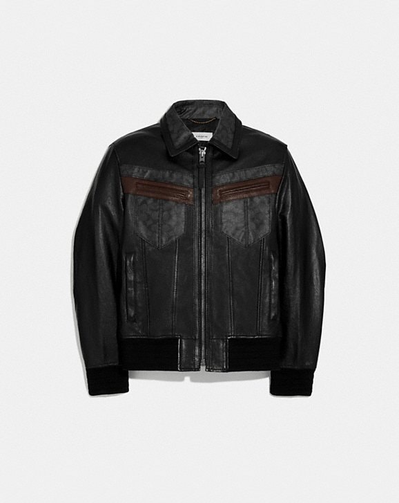 Coach SIGNATURE LEATHER JACKET