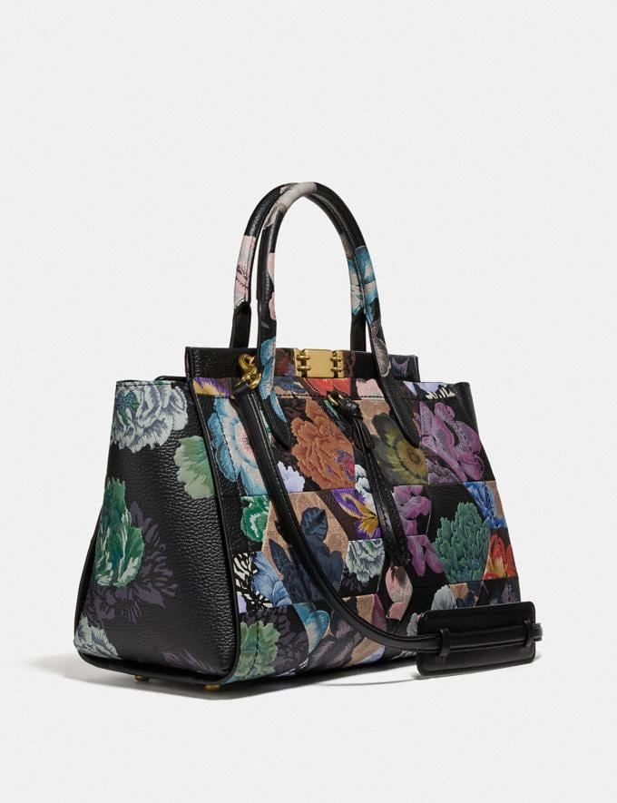 Coach Troupe Carryall 35 in Signature Canvas With Kaffe Fassett Print B4/Tan Multi  Alternate View 1