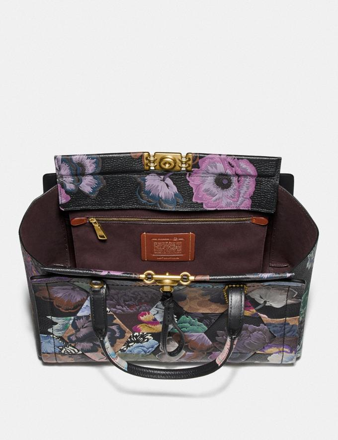 Coach Troupe Carryall 35 in Signature Canvas With Kaffe Fassett Print B4/Tan Multi  Alternate View 2