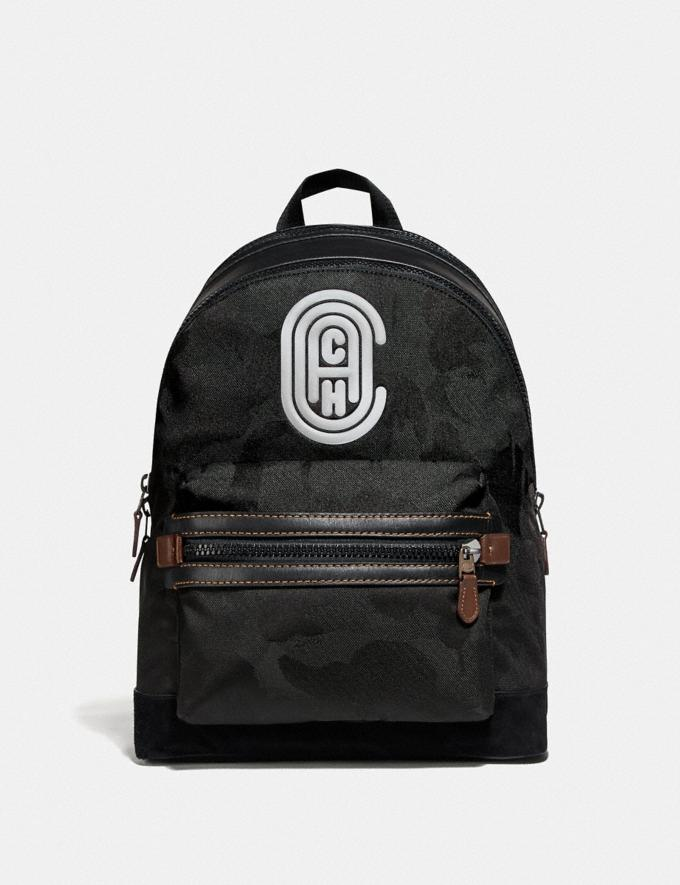 Coach Academy Backpack With Wild Beast Print and Reflective Coach Patch Black Copper/Black Wild Beast New Men's New Arrivals Bags