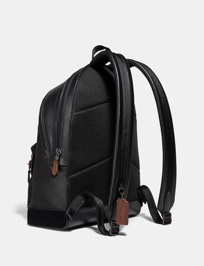 Coach Academy Backpack With Wild Beast Print and Reflective Coach Patch Black Copper/Black Wild Beast New Men's New Arrivals Bags Alternate View 1