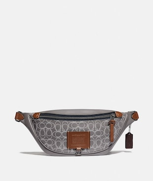 RIVINGTON BELT BAG IN REFLECTIVE SIGNATURE LEATHER