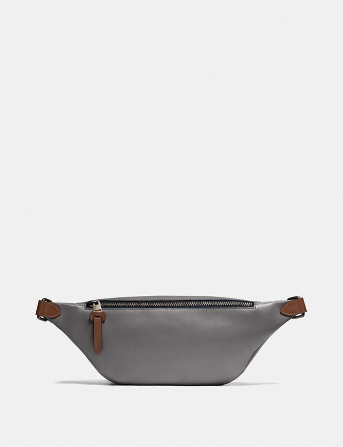 Coach Rivington Belt Bag in Reflective Signature Leather Black Copper/Heather Grey Gifts For Him Under $500 Alternate View 2