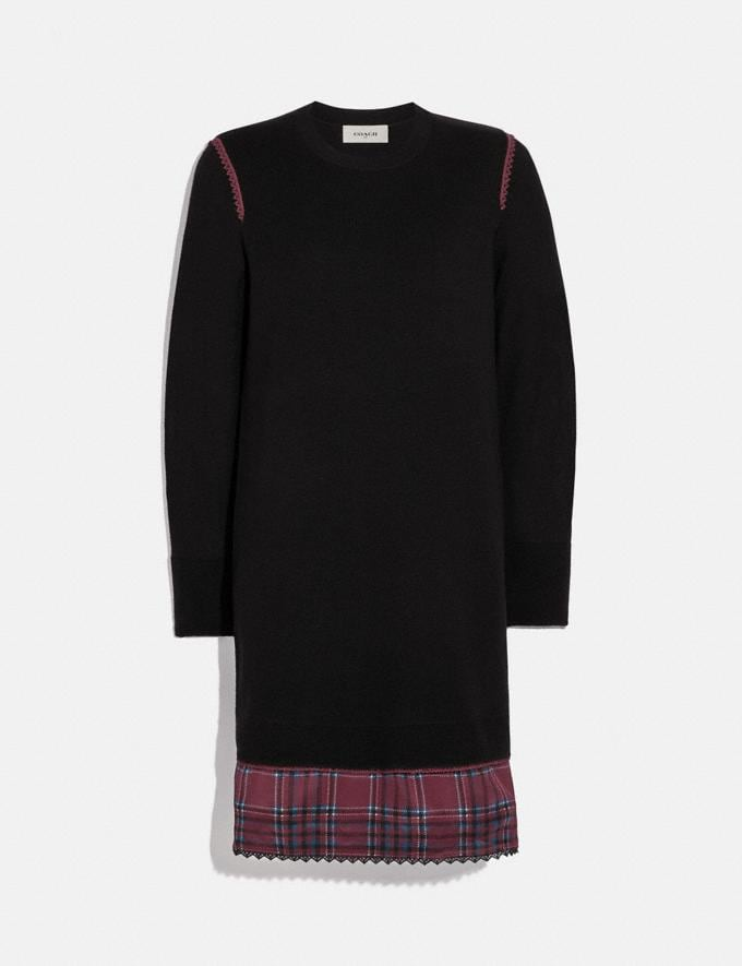Coach Sweater Dress Black Women Ready-to-Wear Dresses