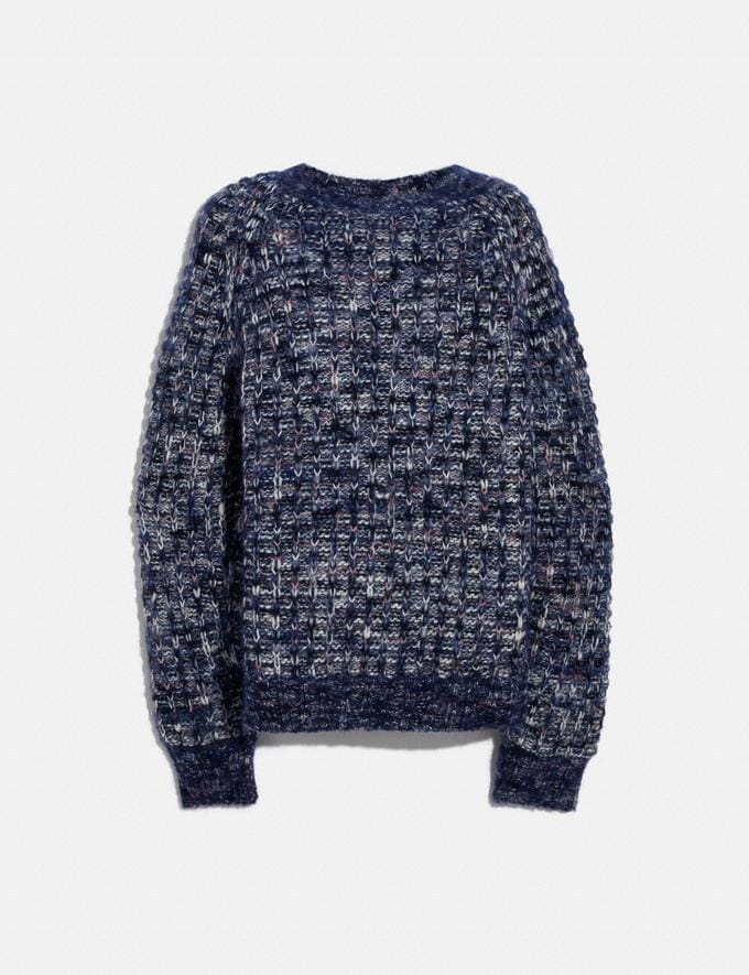 Coach Multi Crewneck Navy New Women's New Arrivals Collection