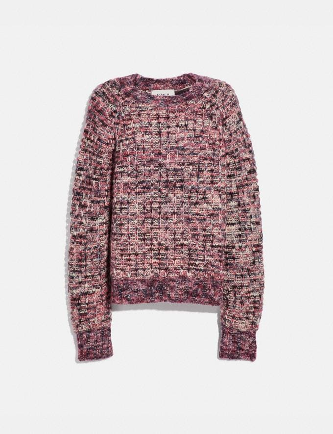 Coach Multi Crewneck Pink VIP SALE Women's Sale Ready-to-Wear