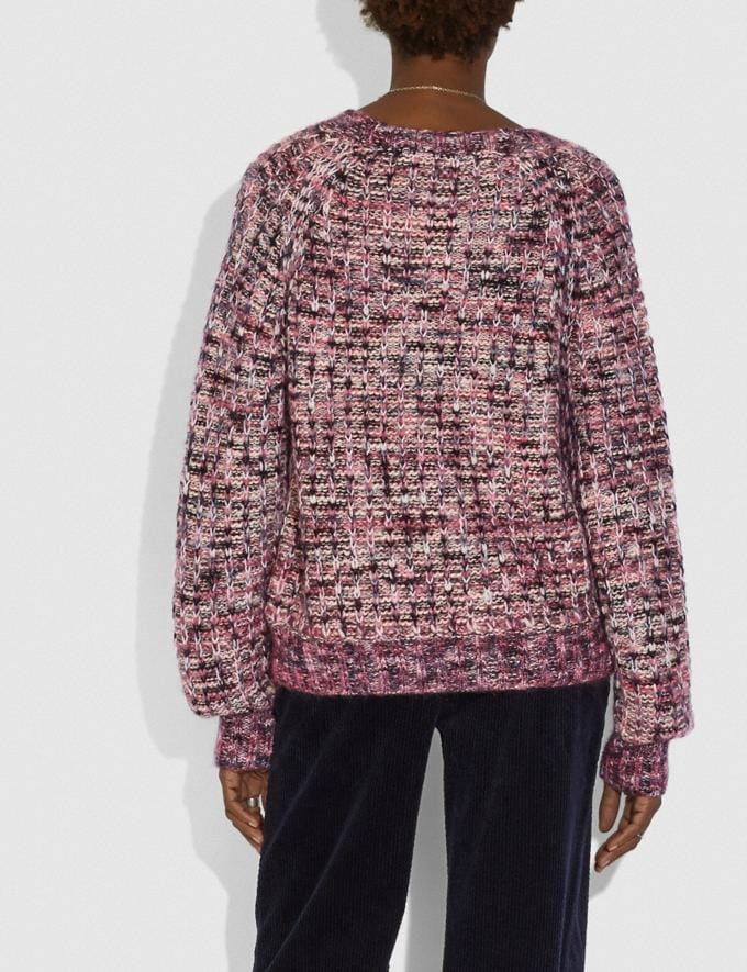 Coach Multi Crewneck Pink VIP SALE Women's Sale Ready-to-Wear Alternate View 2