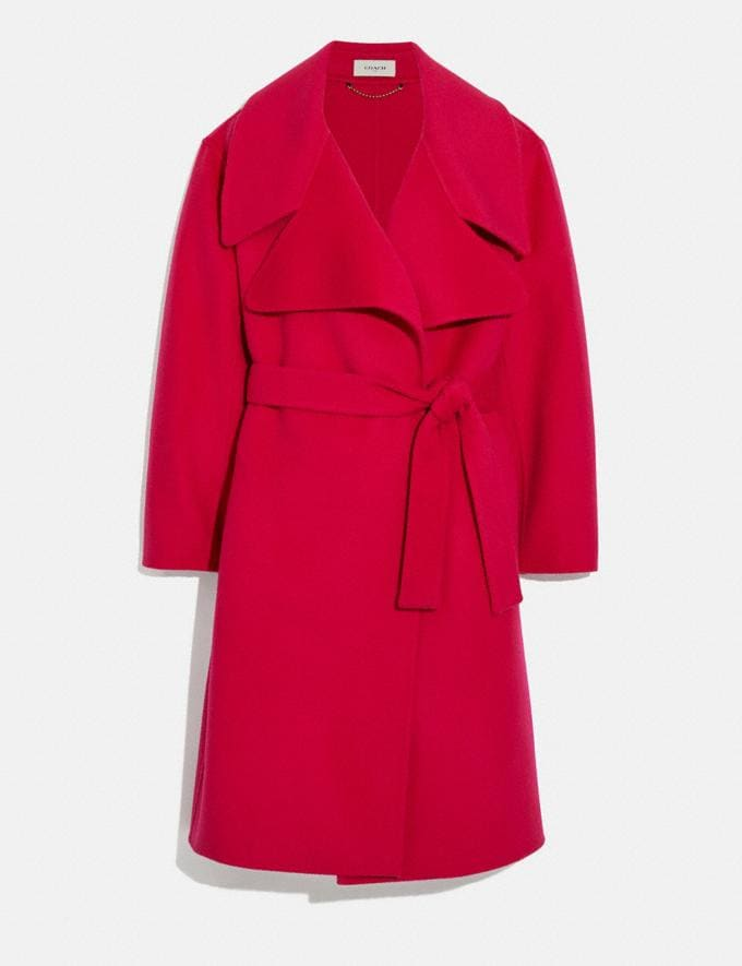 Coach Luxury Wool Coat Pink Damen Kleidung