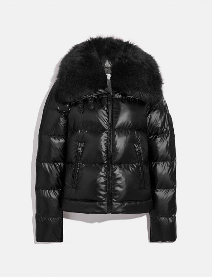 Coach Aviator Puffer Jacket Black New Women's New Arrivals Collection