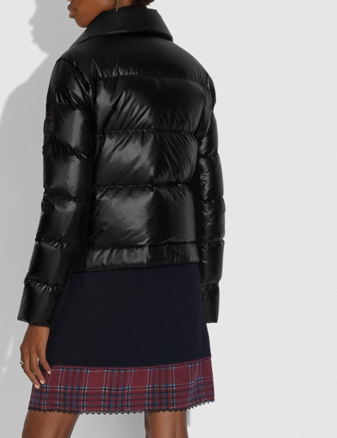 Coach Aviator Puffer Jacket Black New Women's New Arrivals Collection Alternate View 2
