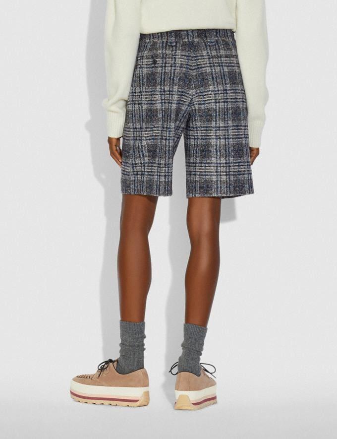 Coach Oversized Shorts Grey/Blue SALE Women's Sale Ready-to-Wear Alternate View 2