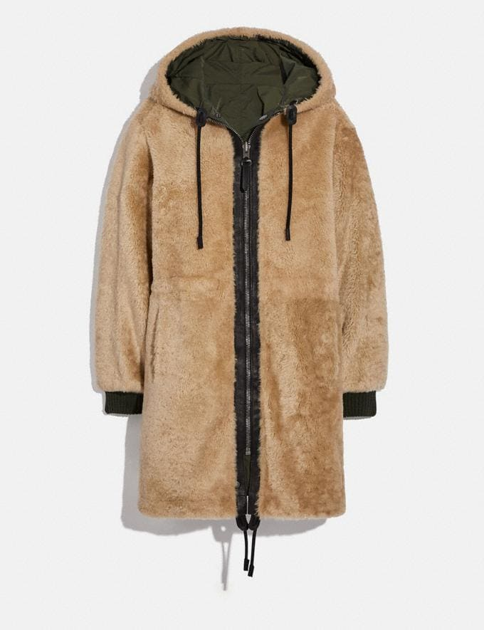 Coach Reversible Shearling Parka Dark Military Gifts For Her Bestsellers