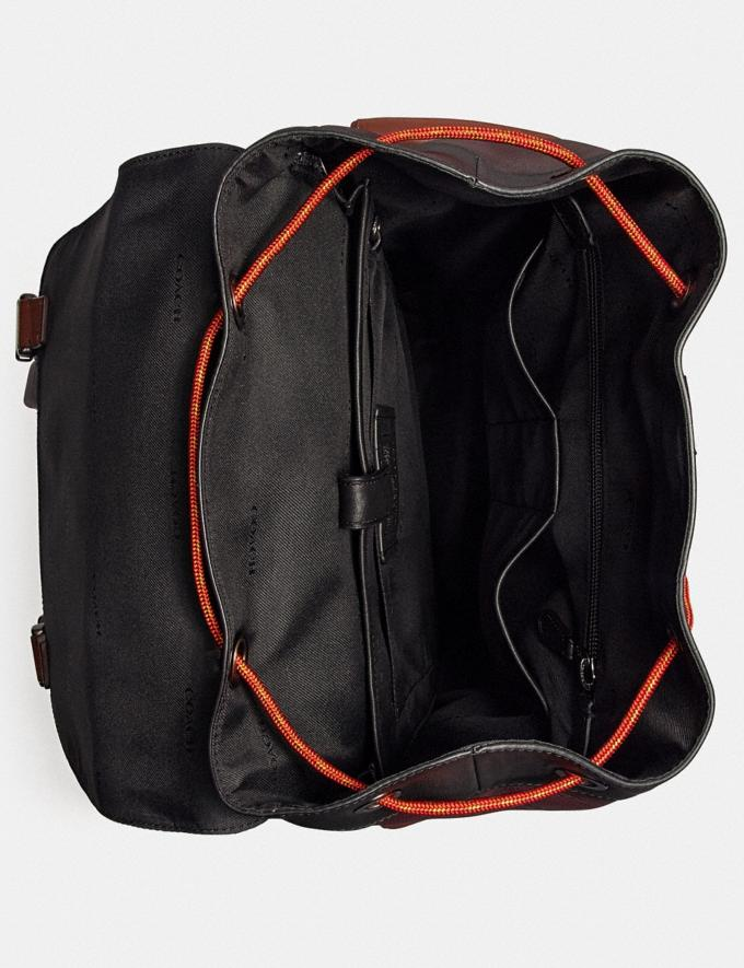 Coach Rivington Backpack in Colorblock With Coach Patch Black Copper/Oxblood Multi Men Bags Backpacks Alternate View 2