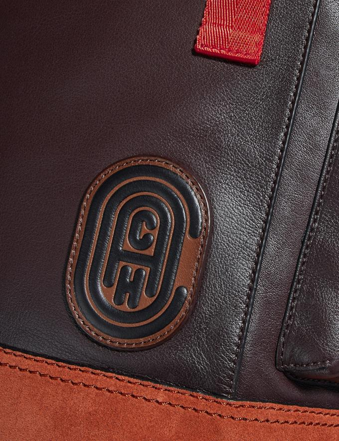 Coach Rivington Backpack in Colorblock With Coach Patch Black Copper/Oxblood Multi Men Bags Backpacks Alternate View 4