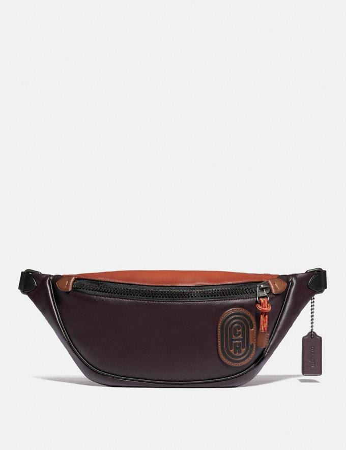 Coach Rivington Belt Bag in Colorblock With Coach Patch Black Copper/Oxblood Multi SALE 30% off Select Styles 30% off
