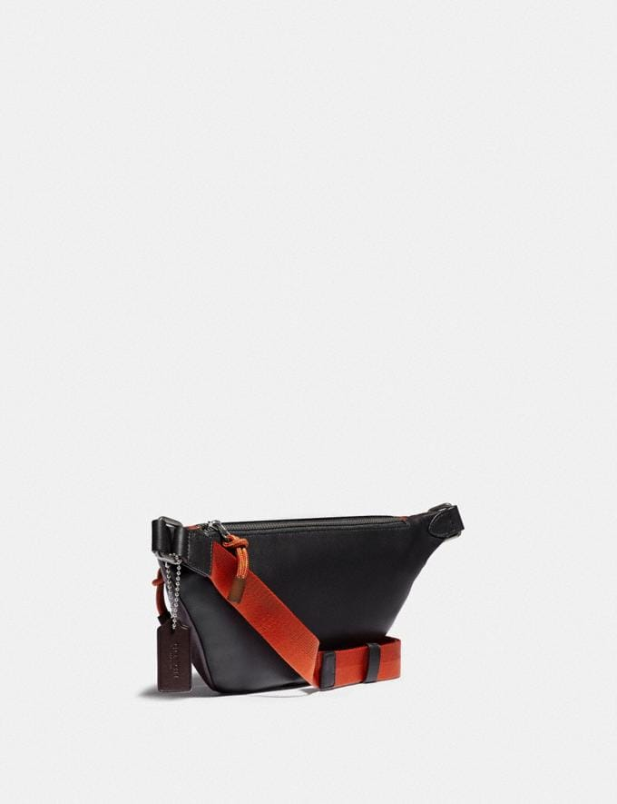 Coach Rivington Belt Bag in Colorblock With Coach Patch Black Copper/Oxblood Multi New Men's New Arrivals Bags Alternate View 1