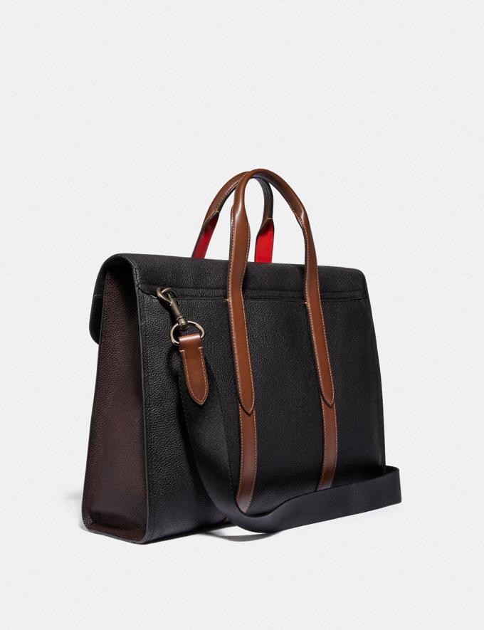 Coach Metropolitan Portfolio in Colorblock Black Copper/Black Multi New Men's New Arrivals Bags Alternate View 1