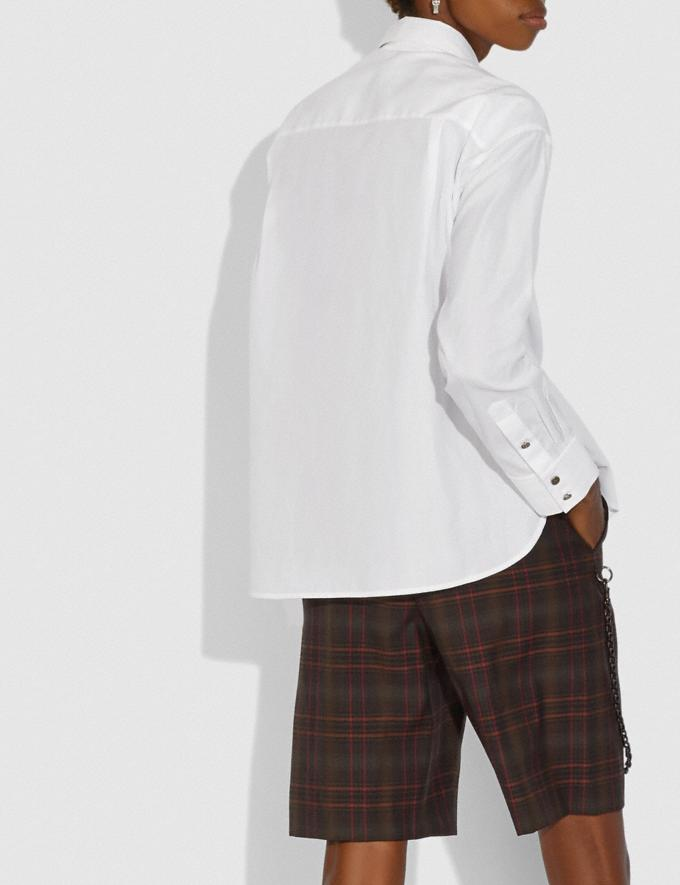 Coach Pleated Bib Shirt White  Alternate View 2