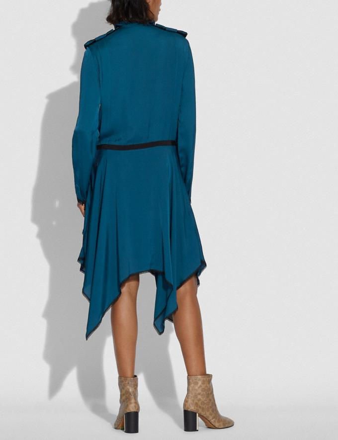 Coach Pleated Dress Teal  Alternate View 2