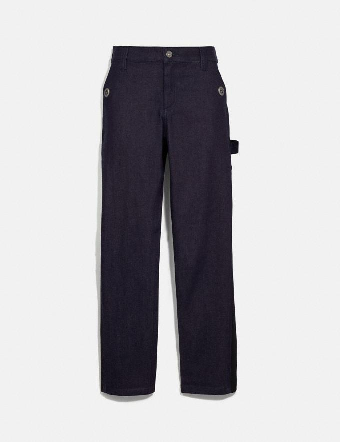 Coach Denim Carpenter Pants Dark Wash